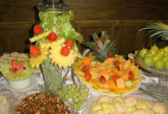 Fruit Table at the Portuguese Club Leamington
